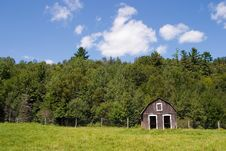 Free Small Barn And Blue Skies Stock Image - 1061041