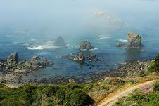 Free Foggy Coast Royalty Free Stock Image - 1061176