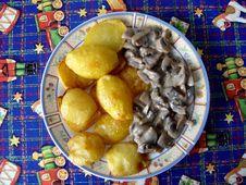 Mushrooms With Potatoes Stock Image