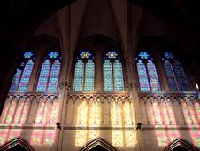 Free Stained-glass Windows At San Sebastian Royalty Free Stock Image - 1064316