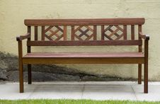 Free Wooden Park Bench Royalty Free Stock Image - 1064696