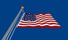 Free Waving_USA_flag Royalty Free Stock Photos - 1065248