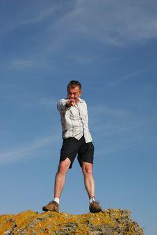 Free Man Upright Stock Photos - 1065413