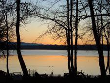 Free Sunset Through Trees Stock Photos - 1066023