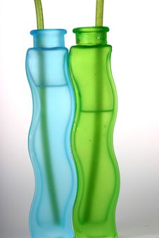 Translucent Vases Stock Photography