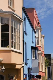 Tenby Houses Royalty Free Stock Images
