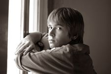 Free Portrait At A Window Stock Photos - 1068383