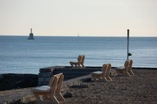 Free Benches By The Sea Stock Image - 1068521