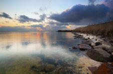 Free Sunset Lake Royalty Free Stock Image - 1069776