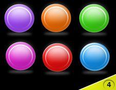 Free Blank Colorful Icon Set Stock Photos - 10600363
