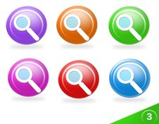 Free Search The Web Icon Set Stock Photo - 10600390