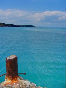 Turquoise Sea Stock Photo
