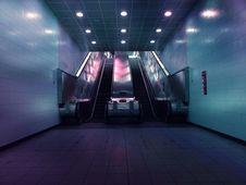 Free Landscape Photo Of Two Escalators Stock Photography - 106058502