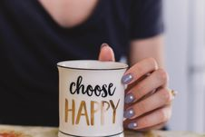 Free Selective Focus Photography Of Person Touch The White Ceramic Mug With Choose Happy Graphic Royalty Free Stock Images - 106058589