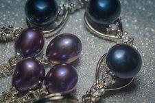Fashion Black Pearl Bracelet Stock Photo