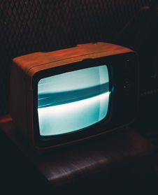Free Black Crt Tv Showing Gray Screen Stock Photography - 106123402