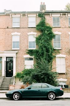 Free Brown And White Concrete Apartment And Green Ivy Plants Royalty Free Stock Photography - 106123427