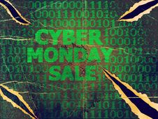Free Grunge Cyber Monday Sale Royalty Free Stock Image - 106147466