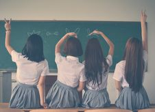 Free Photo Of Four Girls Wearing School Uniform Doing Hand Signs Royalty Free Stock Photos - 106174238