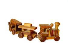 Free Old Wooden Toy Train Royalty Free Stock Photos - 10645538