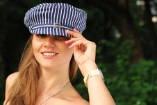 Free Happy Blond In The Cap Stock Photography - 10649102