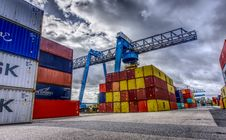Free Shipping Container, Transport, Freight Transport, Sky Stock Photo - 106402490