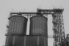 Free Black And White, Building, Silo, Industry Stock Photos - 106402563