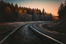 Free Train Rail During Golden Hour Stock Image - 106424231