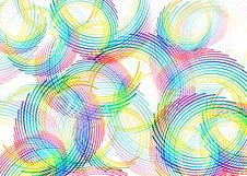 Free Color Line Circles Royalty Free Stock Photography - 10670857
