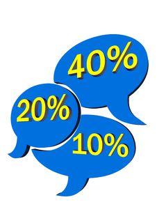 Sale Etiquette - Blue Stock Image
