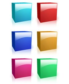 Free Colorful Boxes Stock Photography - 10699492