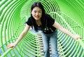 Free Korean Woman At The Park Stock Photos - 1071503