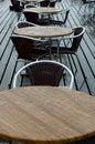 Free Wet Pavement Cafe Stock Image - 1073001