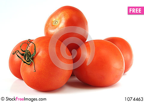 Free Red Tomatoes Isolated Stock Photos - 1074463
