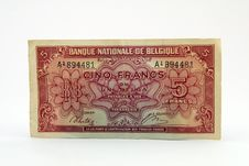 Free Old Currency Bill Royalty Free Stock Photography - 1070587