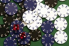 Free Casino Chips Stock Photo - 1071940