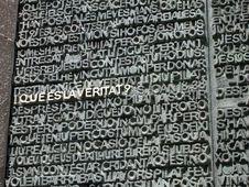 Free Scripture At La Sagrada Familia Stock Photography - 1072102