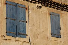 Free Two Blue Shutters Stock Photography - 1072592