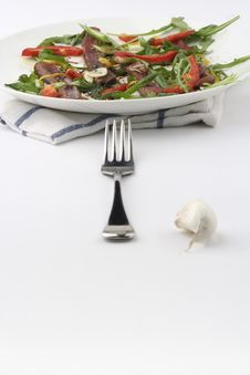 Free Beef Carpaccio; Fork Aligned Stock Photography - 1073292