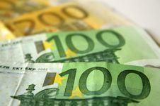 Free Closeup To Euro Banknotes Royalty Free Stock Photography - 1074407