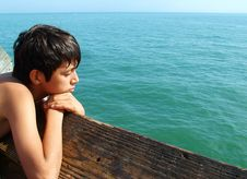 Free Contemplative Boy Stock Photography - 1074612