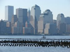 NYC Skyline Royalty Free Stock Photos