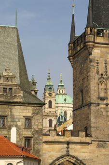 Free Prague Towers And Churches Stock Image - 1076041