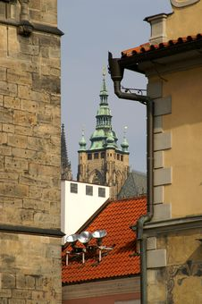 Free Prague Tile Roofs And Churches Stock Images - 1076044