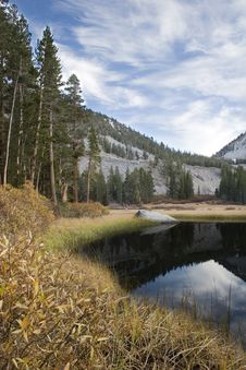 Free Scenic Mountain Lake,High Sierra Lake Royalty Free Stock Photos - 1076148