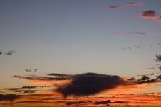 Free Wildfire Clouds At Sunset Royalty Free Stock Image - 1076166