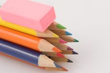 Free Pencil Eraser Royalty Free Stock Images - 1076169