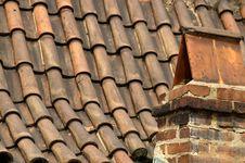 Free Prague Tile Roofs Royalty Free Stock Photo - 1076175