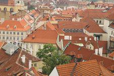 Free Prague Tile Roofs Stock Photos - 1076193