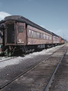 Retro Passenger Train Royalty Free Stock Photos